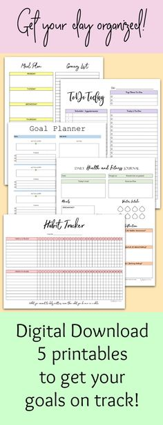 A5 FITNESS PLANNER Fitness Journal Health and Fitness Planner