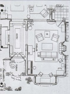 Casa halliwell plano planta baja 1 charmed for Charmed house blueprints