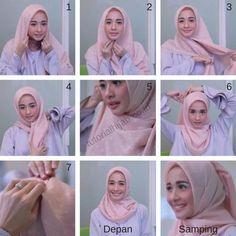 Simple Laudya Cynthia Bella Tutorials Hijab Simple Laudya Cynthia Bella TutorialsThis scarf is the central bit Tutorial Hijab Modern, Square Hijab Tutorial, Pashmina Hijab Tutorial, Hijab Style Tutorial, Tutorial Hijab Segi 4, Tutorial Hijab Wisuda, Hijab Casual, Hijab Chic, Ootd Hijab
