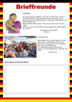 Willkommen auf Deutsch - Brieffreunde - Persönliche Informationen