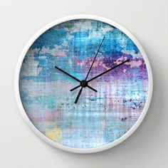 Wall Clock  #blue #aqua #purple