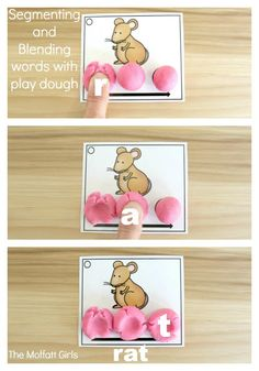 Segmenting and Blending Cards provide students the chance to build phonemic awareness by slowing down to isolate the sounds and then blend them together. Perfect hands-on fun!