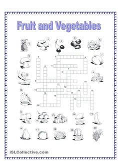 Veggies Crosswords