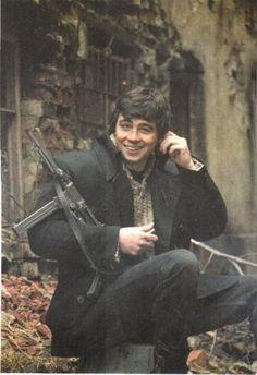 Сергей Бодров во время съемок фильма Брат 2, Москва, Россия, 1999 год.