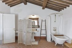 """Our living spaces are """"typically Tuscan"""" and mix traditional finishes with all the mod-cons, Maremma."""