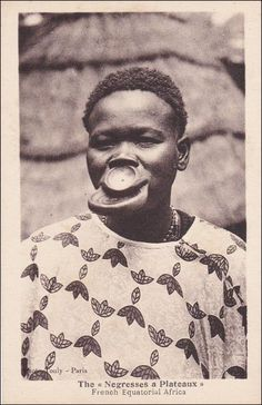 "The ""Negresses a Plateaux"" , French Equatorial Africa , 1910s ; Large Lipped Native Item# SCVIEW410671 (259202630)"