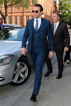 3-piece navy suit can be classic and sexy as well and less serious than a solid black two piece