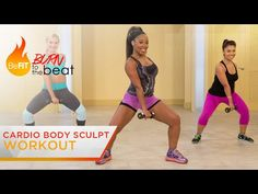 Cardio Body Sculpt Workout: Burn to the Beat- Keaira LaShae - YouTube complete 9/17/14