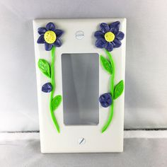 Flower Switchplate Decorated Switchplate Home Decor Flower