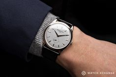 If vintage or yellow gold is not your thing - stunning white gold Patek Philippe 5196G watch