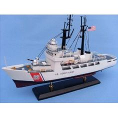 """USCG High Endurance Cutter 18"""" - USCG - Model Ship Wood Replica - Not a Model Kit (Toy)  http://www.howtogetfaster.co.uk/jenks.php?p=B0033DUTM0  B0033DUTM0"""