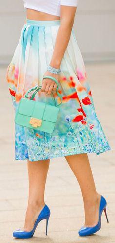 Poppy swing skirt