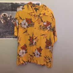 Oversized Hawaiian shirt Hawaiian shirt Tops