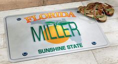 Personalized State License Plate Floor Mat