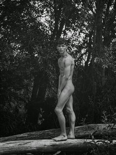 Sexy country boy posing totally naked outdoors