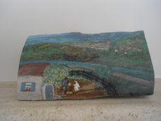 a greek village Wood Crafts, Greek, Painting, Art, Art Background, Painting Art, Kunst, Wood Turning, Paintings