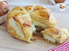 Hojaldre de camembert con jamón y cebolla, Receta Petitchef
