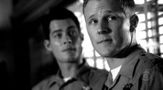 Brian Hallisay and Shane Johnson as 'Jimmy Bruno and Sean 'Coop' Cooper' in Cold Case episode 'Forever Blue'