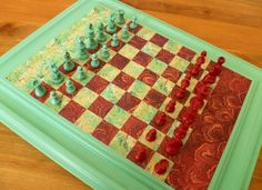 Decorative Chess Sets from Old Cabinet Doors
