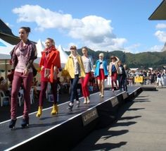 Catwalk styling for Trentham Races Ladies Day - using Westfield fashions Ladies Day, Catwalk, Basketball Court, Racing, Wrestling, Stylish, Lady, Sports, Image