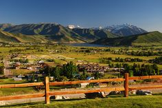 ~ Overlooking Midway, Utah ~ from the top of Memorial Hill