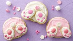 Kids are going to love making and eating these cute Bunny Butt cookies! - this would be really cute on the top of a cupcake too