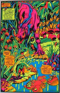 Rare vintage original 1971 Incredible Hulk Third Eye Marvel Comics blacklight poster Marvelmania era black light pin-up poster featuring art by Herb Trimpe Comic Book Artists, Comic Book Characters, Comic Books, Graphic Design Illustration, Illustration Art, Superhero Poster, Black Light Posters, Jack Kirby, Incredible Hulk