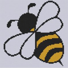 Bee 6 Cross Stitch Pattern