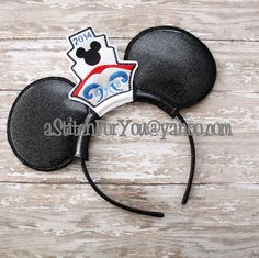 Headband CRUISE Ship Character ITH Mr Miss Mouse by astitchforyou
