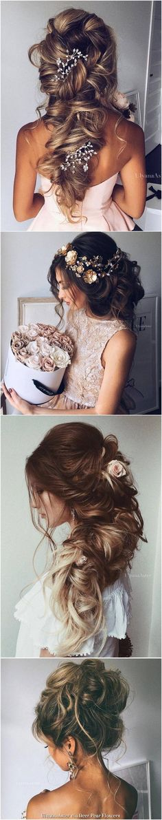 Ulyana Aster Long Wedding Hairstyles Inspiration - http://www.ulyanaaster.com | Deer Pearl Flowers