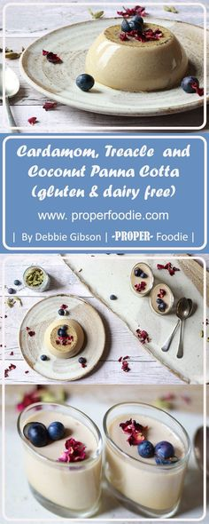 Spiced-up, dairy free panna cotta, with a hint of cardamom and treacle for that autumnal feel.
