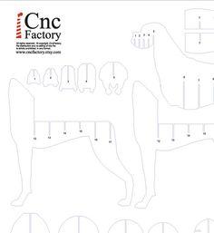 Perro estantería Cnc planes plantilla corte archivo por CncFactory