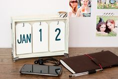 Pentart dekor: Öröknaptár dobozból #beedee #beedeescrap #DIY #pentart #pentacolor #tutorial #calendar Diy Calendar, Perpetual Calendar, Wood Boxes, Toy Chest, Storage Chest, The Originals, Projects, Furniture, Ideas