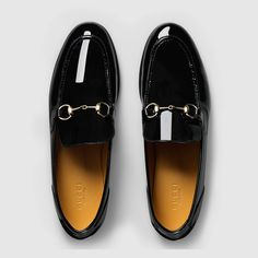 Gucci Women - Patent leather horsebit loafer absolutely necessary for Fab Shoes, Sock Shoes, Cute Shoes, Me Too Shoes, Shoe Boots, Dream Shoes, Stilettos, Pumps, Black Loafers Outfit