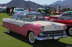 1955 Ford Fairlane Pink & White Crown Victoria Skyliner