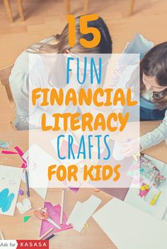 Crafts + valuable money lessons + quality time with the kids! Parents, try one of these financial literacy craft ideas with your kids: https://blog.kasasa.com/2014/03/15-kid-financial-literacy-crafts/