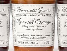 jam jar labels, play between fonts