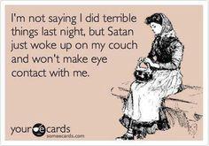 haha i felt like this when i woke up Saturday morning, whoopsie!!