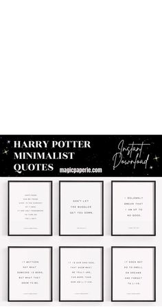 Harry Potter Quotes Minimalist Printable Wall Art ⬇⬇⬇ It's an INSTANT DOWNLOAD JPG! Decor your favorite room with this set of 6 Harry Potter quotes poster. Harry Potter Quotes Inspirational Wall Art Prints DIY. Printable posters for a room Theme. Magical Harry Potter Quotes Wall Art that you can print yourself, save money and time. #harrypotterquotessnape #harrypotterquotes #harrypotterposter #harrypotterprints #harrypotterwallart #harrypotterroom #harrypottercrafts #harrypotterdecor #hogwarts Harry Potter Wall Art, Harry Potter Set, Harry Potter Poster, Harry Potter Decor, Harry Potter Quotes, Harry Potter Fandom, Minimalist Quotes, Photo Printing Services, Inspirational Wall Art