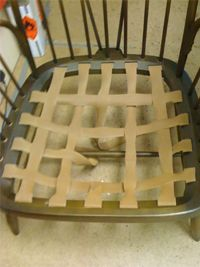 Replacing webbing on Ercol furniture - UpholsteryShop. Ercol Chair, Ercol Furniture, Furniture Repair, Furniture Upholstery, Upholstered Chairs, Furniture Projects, Diy Furniture, Furniture Makeover, Living Room Upholstery
