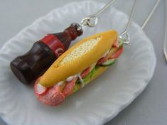 Sandwich and Coke | Community Post: Adorable Food Earrings