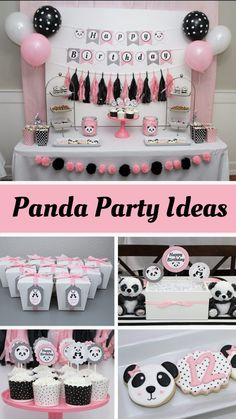 Panda Themed Party, Panda Birthday Party, Rockstar Birthday, 5th Birthday Party Ideas, Panda Party, Birthday Party Decorations, Teen Birthday, Panda Baby Showers, Panda Decorations