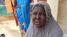 58 year old Jummai Ibrahim,pictured above, who now takes refuge at an IDP camp in Borno state, r...
