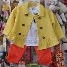 Fall is in the air. Mirror the autumn leaves! Can't you just picture your favorite little girls in this Splendid jacket Taille top (with heart embroidery), and orange ruffled leggings? Picture perfect!  All items sold at The Children's Hour in Salt Lake City.  898 South 900 East.  801.359.4150.  #thechildrenshour