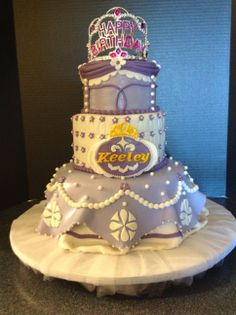 - Sofia the first birthday cake.