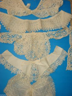 VINTAGE LACE COLLAR LOT, 5 Different styles, antique from Estate Storage
