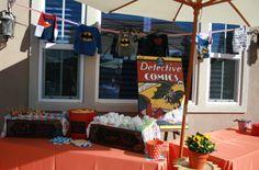 Baby Superhero food table