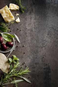 Food Background. With parmesan cheese, fresh herbs and olives, over dark slate. , #spon, #cheese, #fresh, #herbs, #Food, #Background #ad Food Background Wallpapers, Food Wallpaper, Food Backgrounds, Menue Design, Food Menu Design, Food Photography Styling, Food Styling, Olives, Photo Food