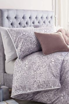 Buy Cotton Rich Mauve Damask Print Bedset from the Next UK online shop