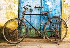 Indian Bicycle Mamallapuram India by StephanieLisaPhotos
